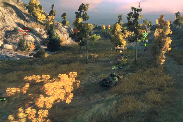 Карта Карелия в World of Tanks