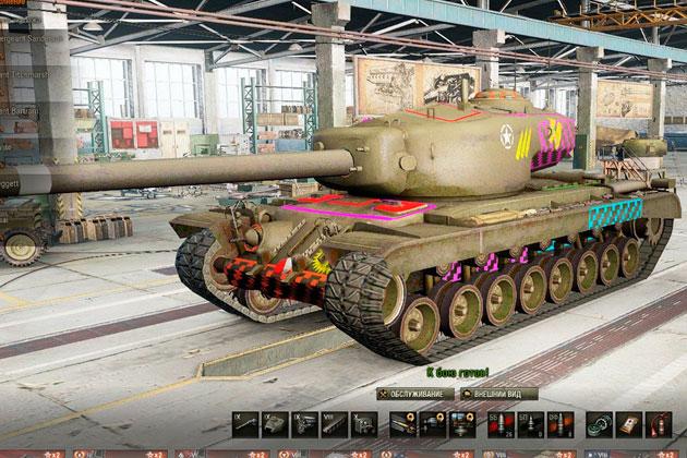 Уязвимые места танков World of Tanks