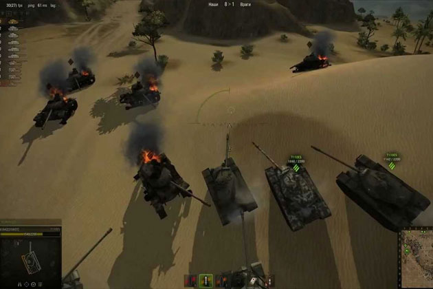 Клановые бои в World of Tanks видео