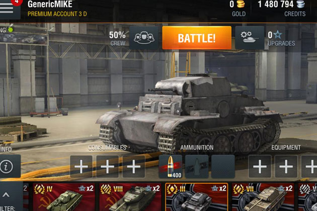 Зоны пробития для World of Tanks Blitz