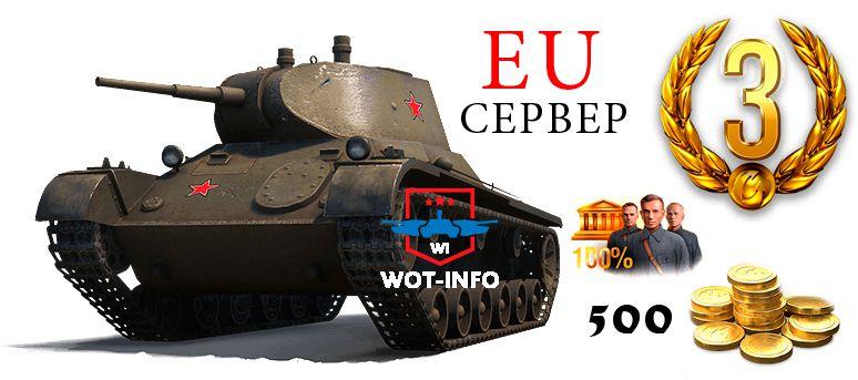 бонус коды для wot 2017 действующие евро
