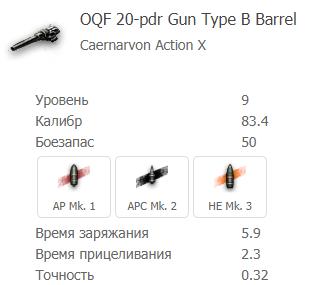 OQF 20-pdr GUN Type B Barell