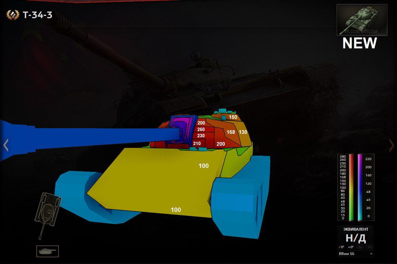 АП танка T-34-3 в обновлении 9.20.1