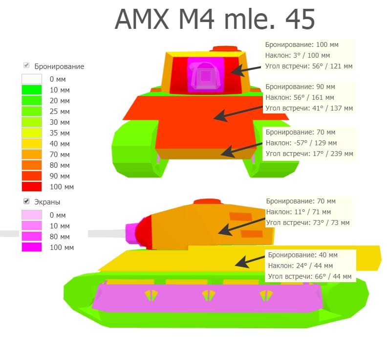 Бронирование AMX M4 mle. 45