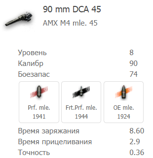 90-миллиметровым орудием DCA 45