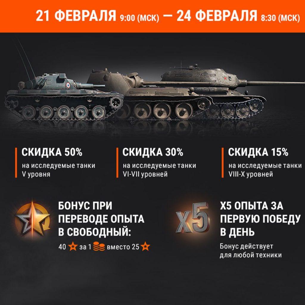 Подарки и акции на 23 февраля от World of Tanks