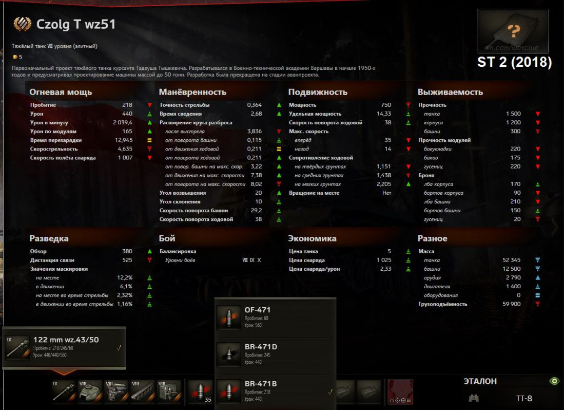 Czolg 51: тактико-технические характеристики