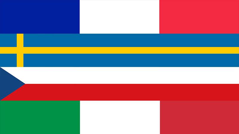 Задачи для Франции, Швеции, Чехословакии и Италии
