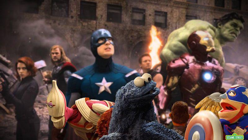 Улица Сезам и Мстители: Война бесконечности