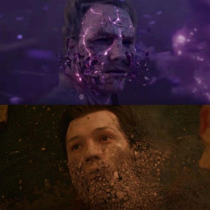 «Мстители: Война бесконечности» обращение в пыль