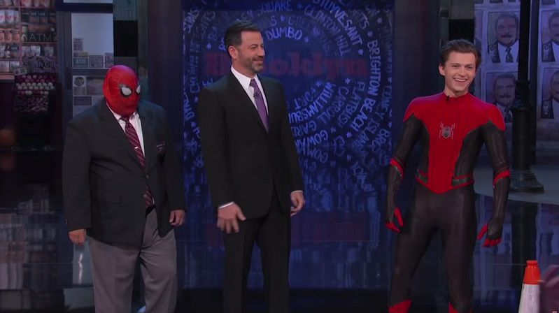 Том Холланд на ТВ-шоу Jimmy Kimmel Live