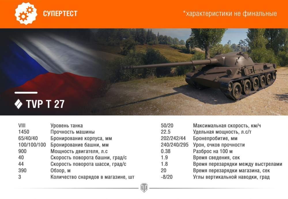 TVP T 27: тактико-технические характеристики