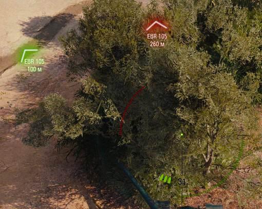 Отображение направления стволов орудий противника на мини-карте;