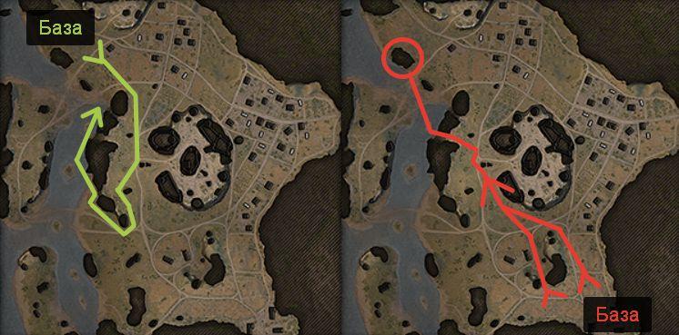 Карта Рудники: Разведчик