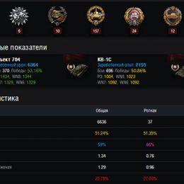 Посмотреть статистику игрока World of Tanks