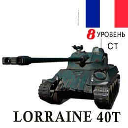 Lorraine 40t — 8 уровень СТ вышел на СуперТест WoT